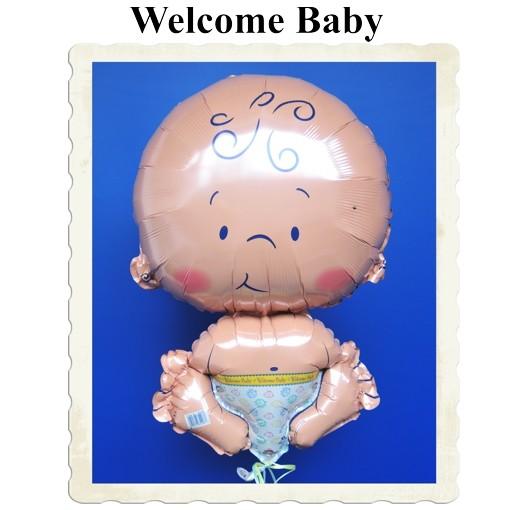 ballonsupermarkt welcome baby gro er luftballon mit helium zur geburt. Black Bedroom Furniture Sets. Home Design Ideas