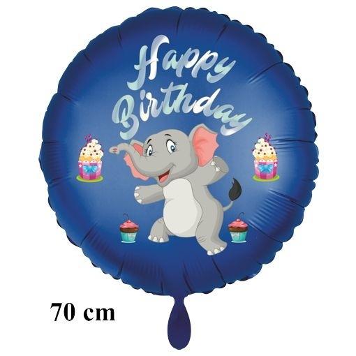 happy birthday großer elefant luftballon mit ballongas zum