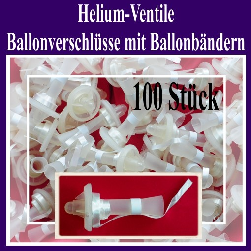 ballonsupermarkt helium ventile ballonverschl sse mit ballonb ndern 100 st ck. Black Bedroom Furniture Sets. Home Design Ideas