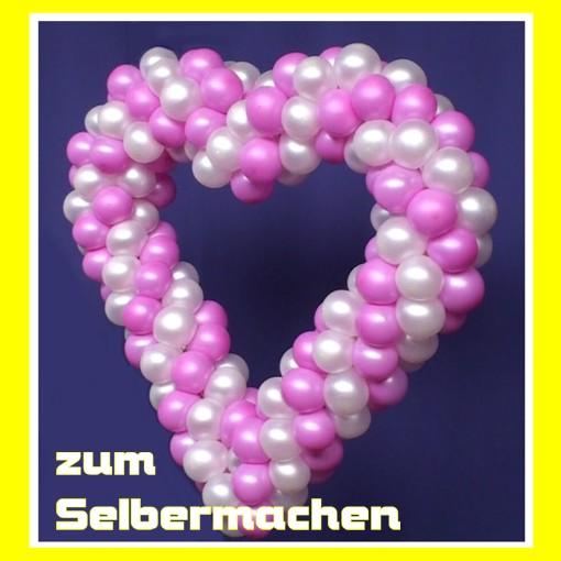 Dekoration Zur Hochzeit Herz Aus Luftballons Zum Selbermachen 90 Cm