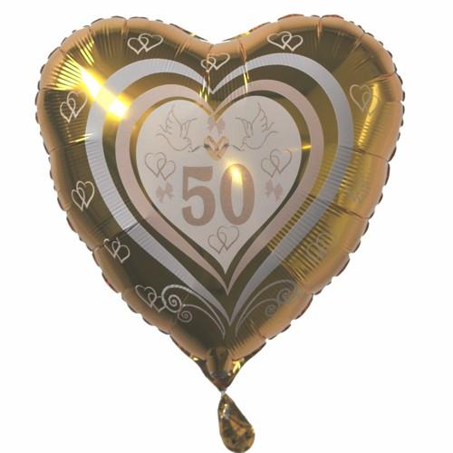 Luftballon Zahl 50 Folienballon Mit Ballongasfüllung