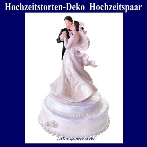 Hochzeitstorten Dekoration Hochzeitspaar Cremefarben