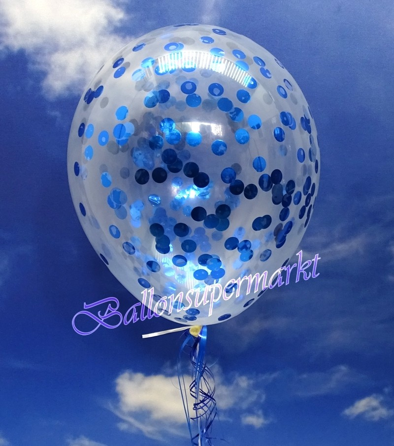 ballonsupermarkt jumbo konfetti ballons latex 45 cm 3 st ck transparent. Black Bedroom Furniture Sets. Home Design Ideas