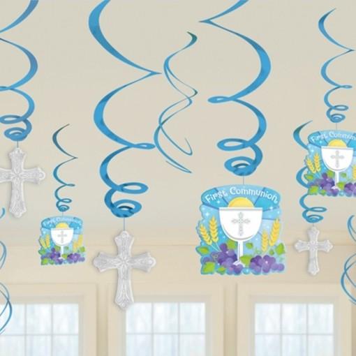 Ballonsupermarkt deko wirbler swirls - Dekoideen kommunion ...