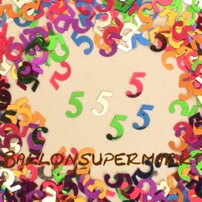 ballonsupermarkt konfetti 5 zum 5 geburtstag jubil um jahrestag konfetti. Black Bedroom Furniture Sets. Home Design Ideas
