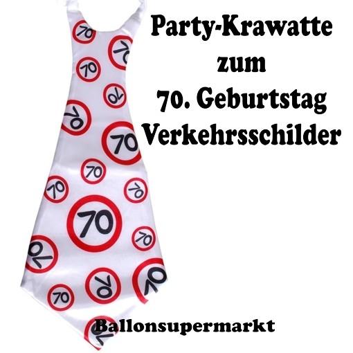 Riesen Krawatt Zum 70. Geburtstag Mit Verkehrsschildern