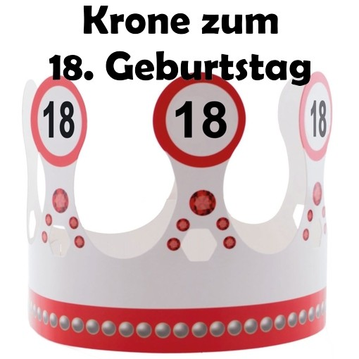 ballonsupermarkt krone zum 18 geburtstag verkehrsschilder 18 partyh tchen. Black Bedroom Furniture Sets. Home Design Ideas