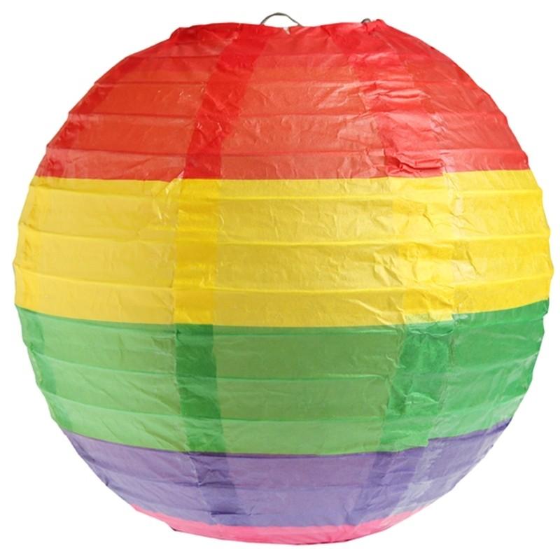 Ballonsupermarkt lampions regenbogen 20 for Regenbogen dekoration