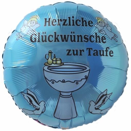 Ballonsupermarkt luftballon zur taufe eines jungen herzliche gl ckw nsche zur - Dekoration taufe junge ...