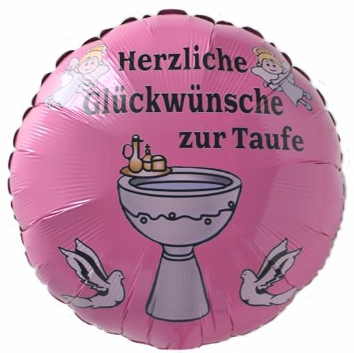 Folienballon Herzliche Glückwünsche Zur Taufe Ballon Mit