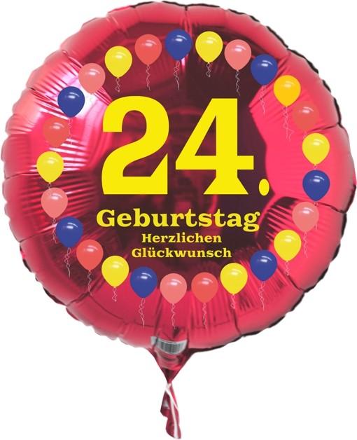 ballonsupermarktonlineshopde luftballon 24 geburtstag