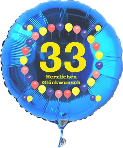 not Helium balloon Folienballon Zahl 3 Geburtstag Blau Stern Zahlen Jubiläum NEU