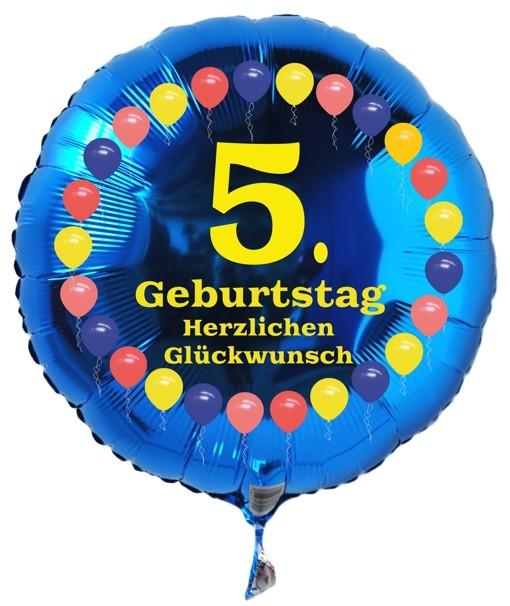 Folienballon 5 Geburtstag Balloons Blau Folienballon Mit Helium