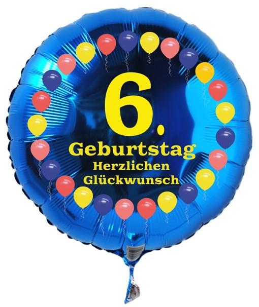 Folienballon 6 Geburtstag Balloons Blau Folienballon Mit Helium