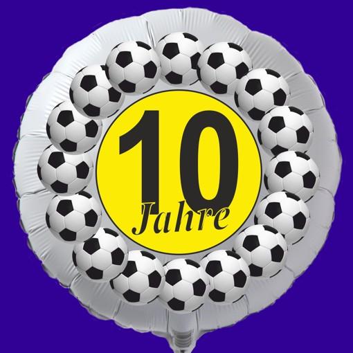 Luftballon 10 Geburtstag Fussball Folienballon Mit Ballongas