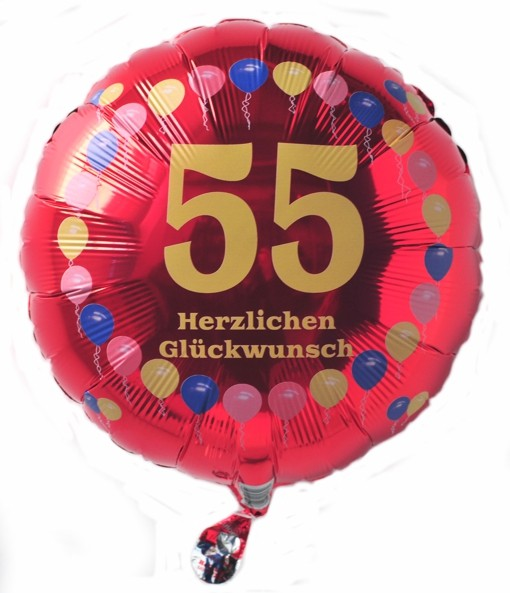 luftballon 55 geburtstag ballonsupermarkt. Black Bedroom Furniture Sets. Home Design Ideas