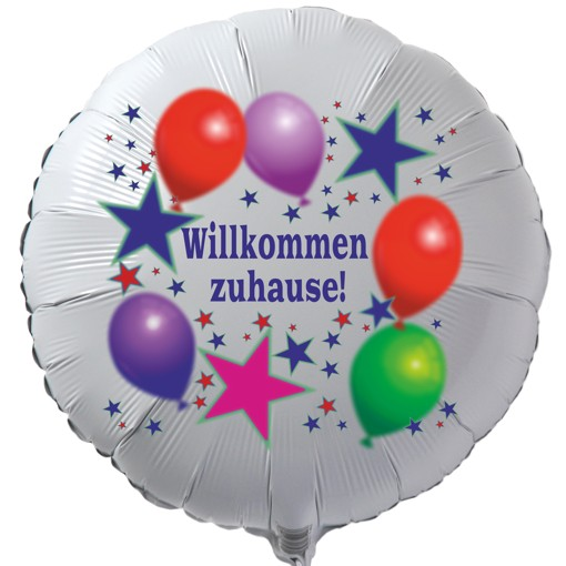 ballonsupermarkt willkommen zuhause luftballon mit helium ballongas balloons. Black Bedroom Furniture Sets. Home Design Ideas
