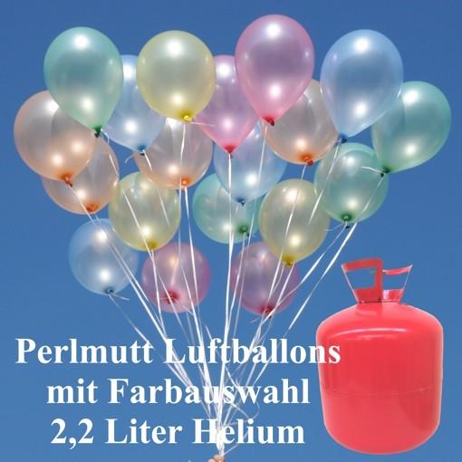 helium einwegbeh lter mit 50 luftballons perlmutt luftballons und helium einwegbeh lter. Black Bedroom Furniture Sets. Home Design Ideas