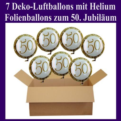ballonsupermarkt geburtstag 50 deko luftballons aus folie 7 geburtstagsballons. Black Bedroom Furniture Sets. Home Design Ideas