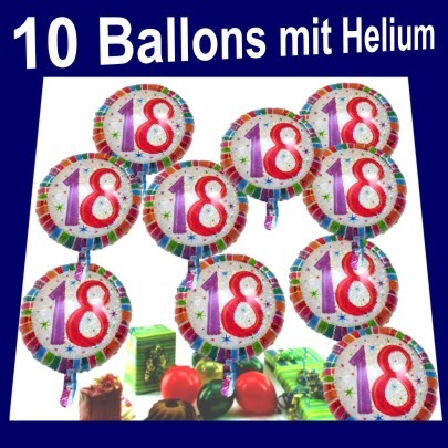 ballonsupermarkt geburtstag 18. Black Bedroom Furniture Sets. Home Design Ideas