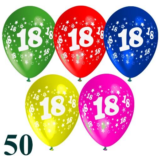 luftballons latexballons zum 18 geburtstag gemischte farben 50 st ck luftballons mit. Black Bedroom Furniture Sets. Home Design Ideas