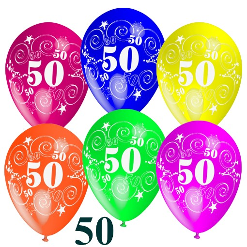 Ballonsupermarkt luftballons latexballons - Dekoration zum 50 geburtstag ...