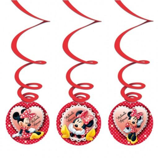 Deko Swirls Minnie Mouse, Partydekoration Kindergeburtstag