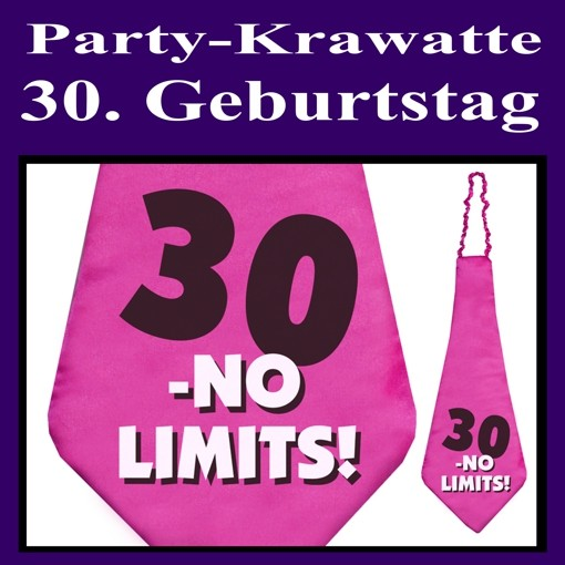 ballonsupermarkt party krawatte zum 30. Black Bedroom Furniture Sets. Home Design Ideas