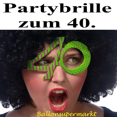 ballonsupermarkt party brille zahl 40 zum 40 geburtstag geburtstag 40. Black Bedroom Furniture Sets. Home Design Ideas