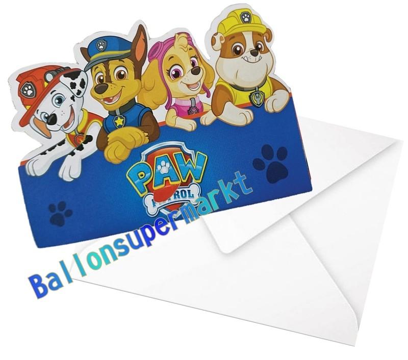 einladungskarten paw patrol adventures zum