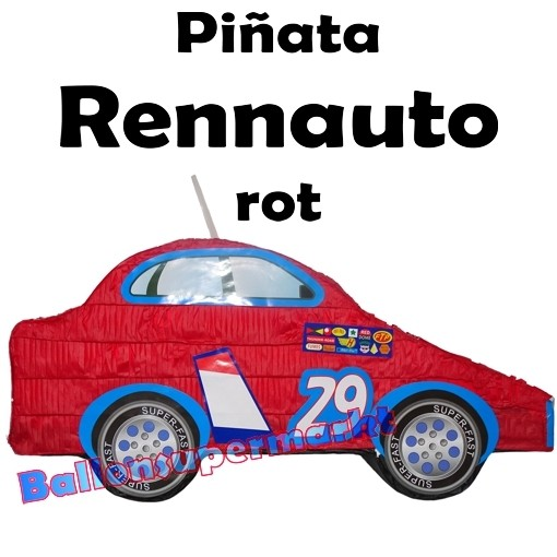 Pinata Rennwagen blau