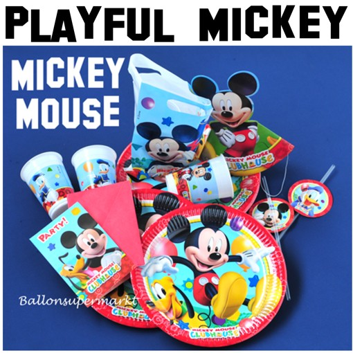 Ballonsupermarkt party set mickey mouse for Kinder party set