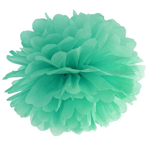 ballonsupermarkt pompoms mintgr n 25 cm 10er set pompoms 25 cm 10er sets. Black Bedroom Furniture Sets. Home Design Ideas