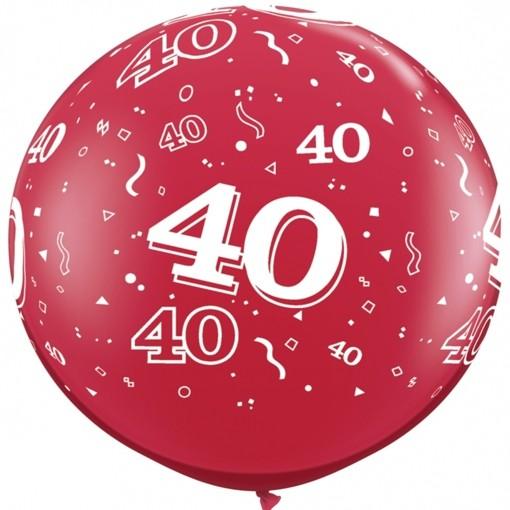 Luftballons 40 geburtstag zahl 40