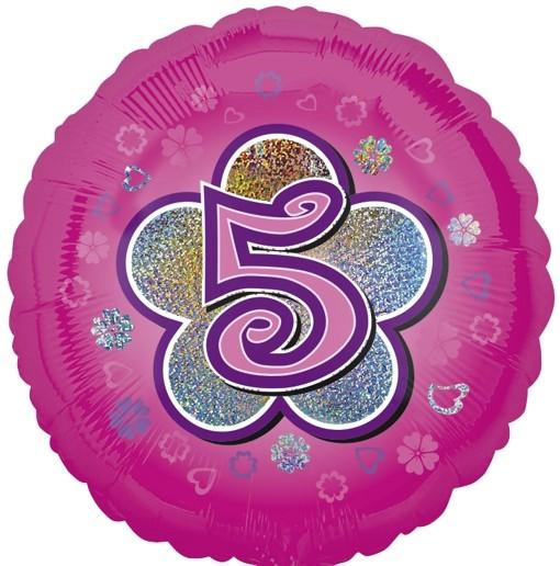 ballonsupermarkt luftballon aus folie mit helium 5 geburtstag rosa m dchen. Black Bedroom Furniture Sets. Home Design Ideas
