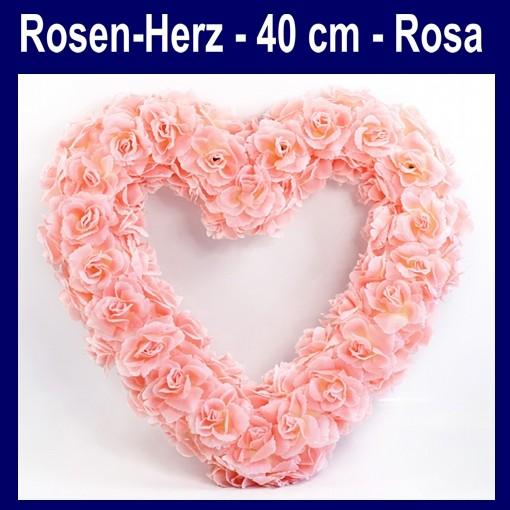 rosen herz rosa herz aus rosen dekoration hochzeit ballonsupermarkt. Black Bedroom Furniture Sets. Home Design Ideas