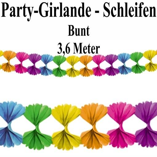 Minigirlande Regenbogen bunt 2 Stk 2,5 m Girlande Tischdekoration Party Fest
