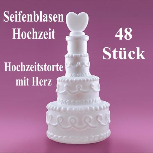 Seifenblasen Wedding Bubbles Hochzeitstorte Mit Herz Weiss