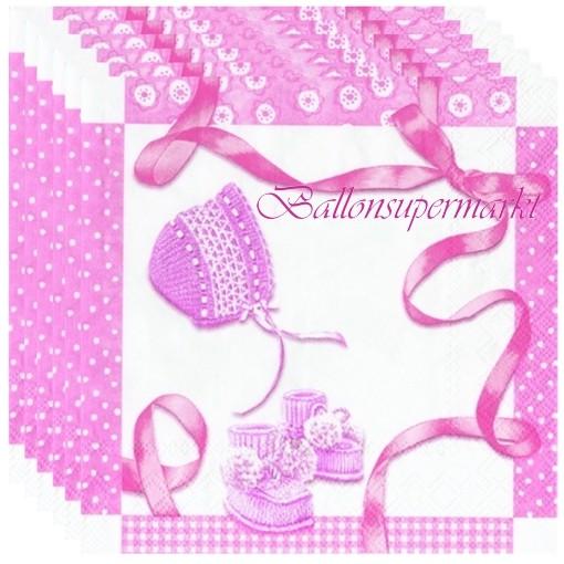 Servietten Baby Shower Rosa Dekoration Zu Geburt Taufe Und