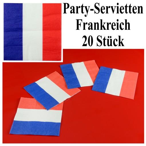 Ballonsupermarkt servietten frankreich 20 for Frankreich dekoration