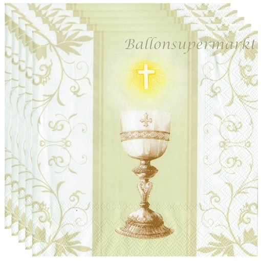 Servietten Communion Cream Tischdekoration Zur Kommunion Und