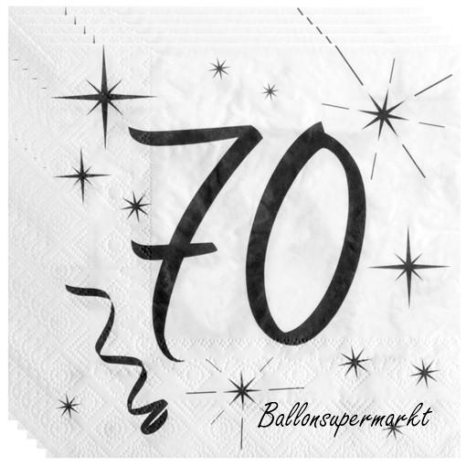 ballonsupermarkt geburtstagsservietten zum 70 geburtstag zahl 70 70. Black Bedroom Furniture Sets. Home Design Ideas
