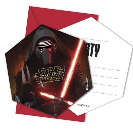 Star Wars Das Erwachen Der Macht Einladungskarten Zum Kindergeburtstag