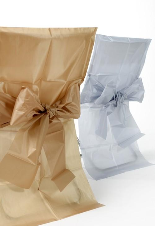 ballonsupermarkt 10 stuhlhussen silber mit schleife silberne hochzeit hochzeit. Black Bedroom Furniture Sets. Home Design Ideas