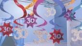 ballonsupermarkt geburtstag dekoration swirls 30 geburtstag swirls. Black Bedroom Furniture Sets. Home Design Ideas