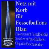 ballonsupermarkt fesselballon netz mit korb blau fesselballon netz mit korb. Black Bedroom Furniture Sets. Home Design Ideas