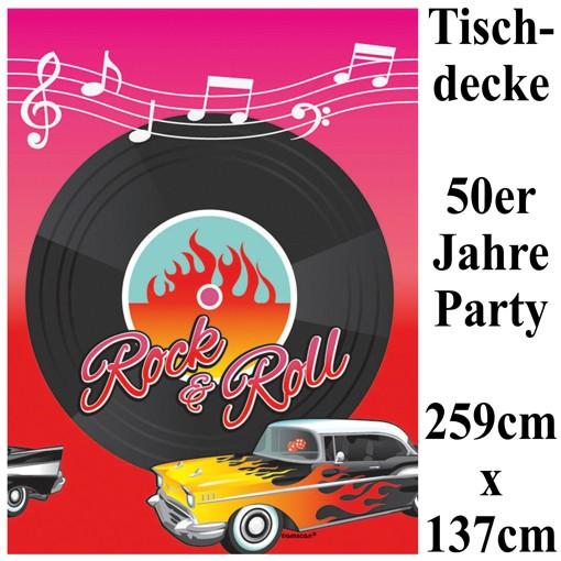 party tischdecke 50er jahre partydekoration mottoparty fifties rock and roll ballonsupermarkt. Black Bedroom Furniture Sets. Home Design Ideas