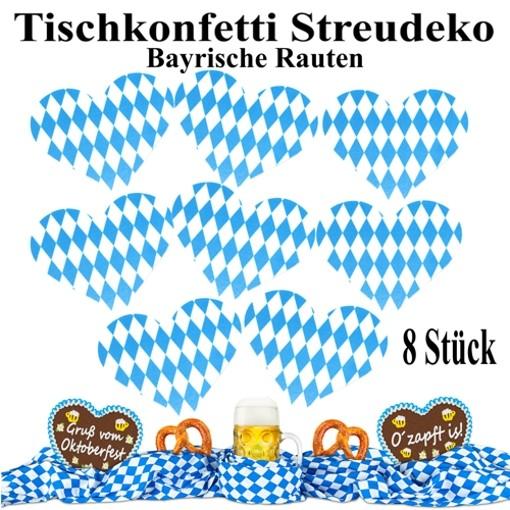 Streudeko Bayrische Rauten 8 Stuck Tischdeko Oktoberfest