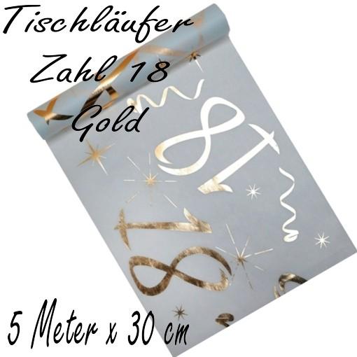 Tischdecke Zahl 18 Gold Tischdekoration Zum 18 Geburtstag