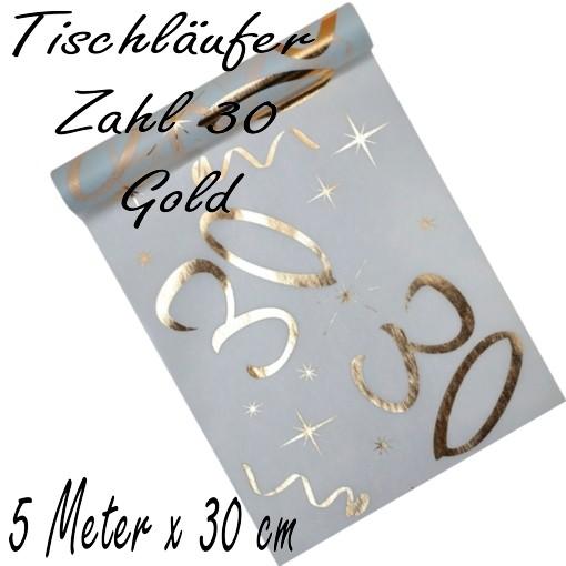 Tischdecke Zahl 30 Gold Tischdekoration Zum 30 Geburtstag
